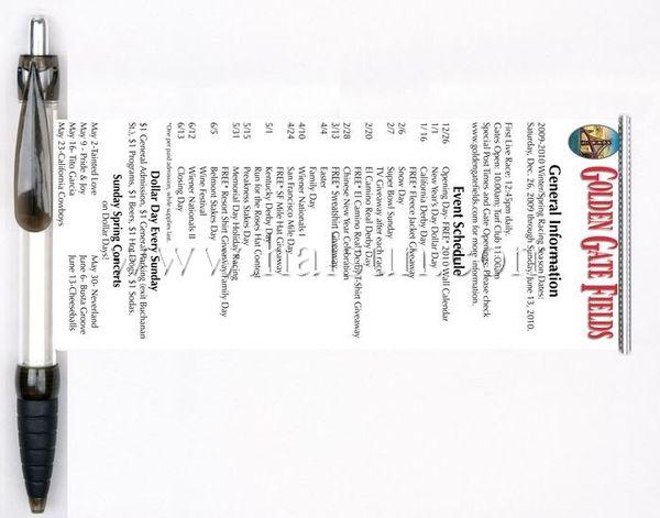 ballpoint pen pull out menu